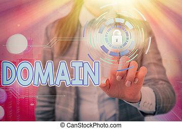 schrijvende , government., showcasing, foto, gebied, gecontroleerd, bijzonder, gebied, meetlatje, domain., aantekening, of, het tonen, zakelijk