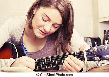 schrijvende , lied