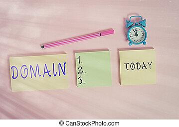 schrijvende , notepads, bijzonder, gebied, klok, meetlatje, achtergrond., of, teken, veelkleurig, domain., tekst, woord, waarschuwing, concept, drie, leeg, zakelijk, regering, gebied, gecontroleerd, gekleurde