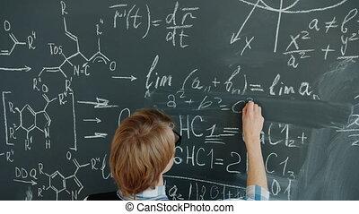 schrijvende raad, vergelijkingen, man, wiskunde, gebruik,...