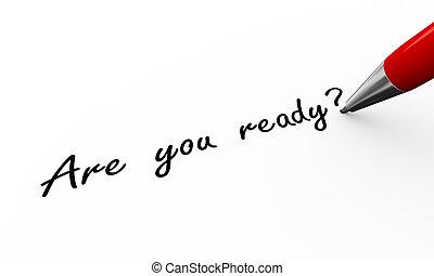 schrijvende , ready?, pen, 3d, u