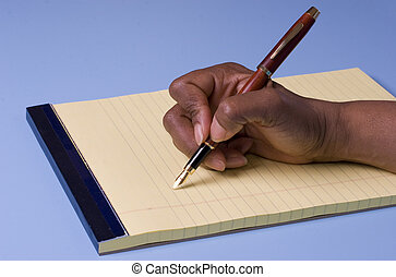 schrijvende
