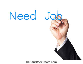 schrijvende , werk, plank, behoefte, zakenman, witte , hand