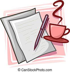 schrijver, pictogram