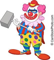 schrikaanjagend, kwaad, clown