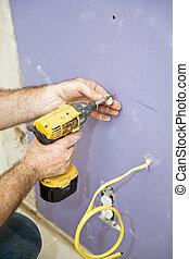 schroeven, drywall, installeren