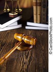 schub, code, rechter, wettelijk, slaghamer