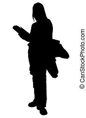 schueler, silhouette