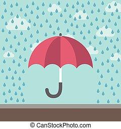 schuetzen, schirm, gegen, regen