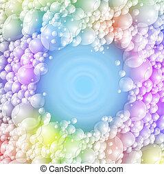 schuim, kleurrijke