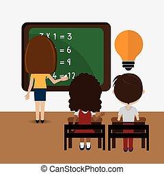 Schulkinder karikatur sitzen ziehen schule sitzen for Designer schule