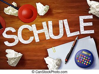 schule desktop memo calculator office think organize