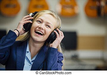 schule, genießen, musik