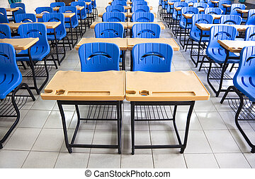 schule, klassenzimmer, leerer