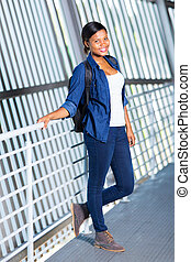 schule- kursteilnehmer, hoch, amerikanische , weiblicher afrikaner
