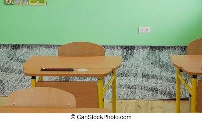 schule, teppich, schreibtische