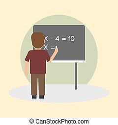 schule, vektor, thema, abbildung