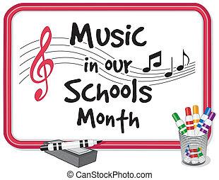 schulen, unser, musik, monat