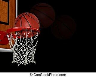 schuss, basketball, partitur