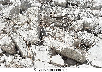 schutt, beton