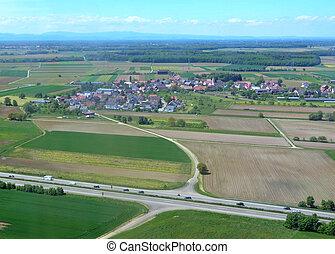 Schutterzell, Ortenau aerial