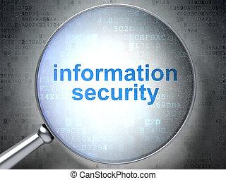 schutz, concept:, informationen, sicherheit, mit, optisch, glas