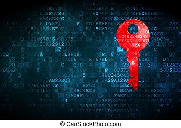 schutz, concept:, schlüssel, auf, digitaler hintergrund