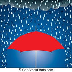 schutz, schirm, regen, hagel