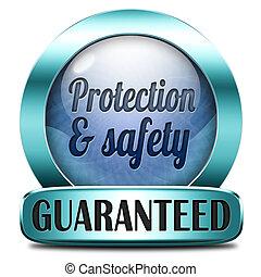schutz, und, sicherheit