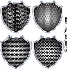 schutzschirm, metall, sicherheit