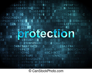 schutzsicherheit, concept:, hintergrund, digital