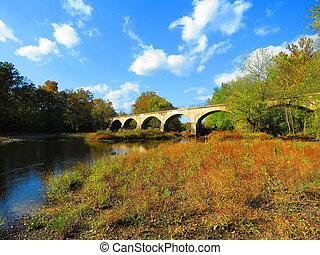The Schuylkill River Trail crossing the Schuylkill River in Berks County, Pennsylvania