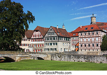 Schwabisch Hall is a town in the German state of Baden-Wurttemberg and located in the valley of the river Kocher in the north-eastern part of Baden-Württemberg.