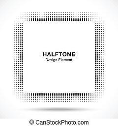 schwarz, abstrakt, halftone, entwerfen element