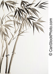 schwarz, bambus