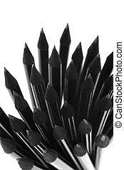 schwarz, bleistifte, design