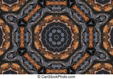 schwarz, brauner, mandala, hintergrund