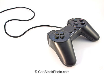 schwarz, controller, hintergrund, spiel, freigestellt, weißes
