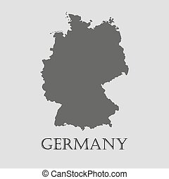 landkarte abbildung vektor deutschland schwarz landkarte illustration licht grau. Black Bedroom Furniture Sets. Home Design Ideas