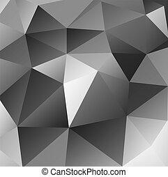 schwarz, dreieckig, hintergrund