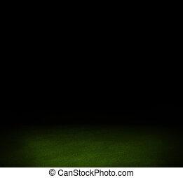 schwarz, dunkel, wand, und, grün, boden, inneneinrichtung, hintergrund
