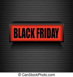 schwarz, friday., warnung, nachricht, verkauf, und, discount.