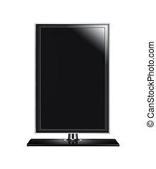 schwarz, grafik, computermonitor