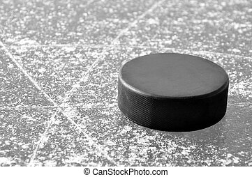 schwarz, hockey- kobold