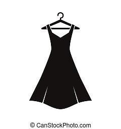 schwarz, kleiderbügel, kleiden