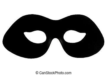 schwarz, maskerade- schablone