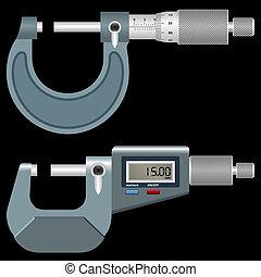 schwarz, mikrometer