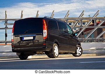 schwarz, minivan