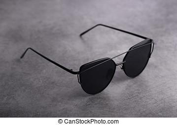 schwarz, modern, auge gläser