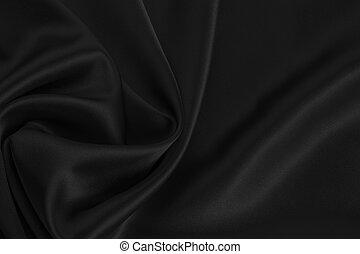 schwarz, seide, satin, oder, hintergrund